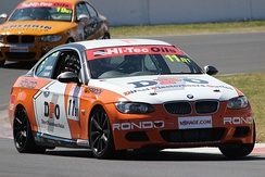 The 2016 Bathurst 6 Hour-winning BMW 335i E92 of Nathan Morcom and Chaz Mostert.
