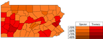 Republican Primary by county