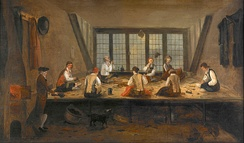 Interior of a Tailor's Shop - anonymous painter, c. 1780