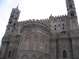 The Cathedral of Palermo was erected in 1185 by Walter of the Mill, the Anglo-Norman archbishop of Palermo and King William II's minister