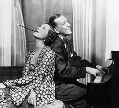 Gertrude Lawrence and Noël Coward in Private Lives, a hit in the UK and the US.