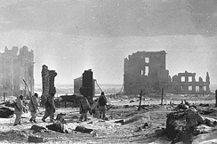 Center of Stalingrad after liberation in 1942
