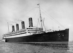 Aquitania of 1914 (45,650 GRT) served in both World Wars.