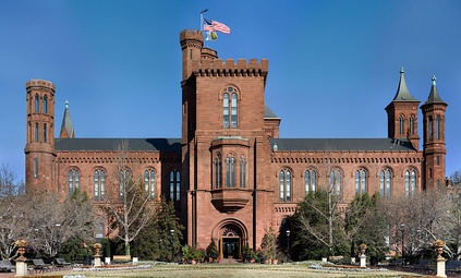 "The Smithsonian Institution Building, also known as ""The Castle""."