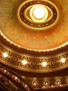 «Танец часов» на центральном плафоне зрительного зала