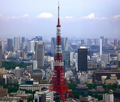 The Tokyo Tower, built in 1958