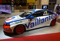Menu's Michel Vaillant color Cruze 1.6T for the 2012 Race of Portugal where Menu won race two of the event as Vaillant.