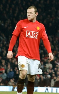 Rooney in a February 2008 match against Arsenal