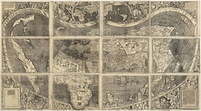 Waldseemüller map with joint sheets, 1507