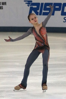 Alexandra Trusova during her free skate from the 2019 Russian Figure Skating Championships