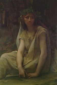 The Druidess, oil on canvas, by French painter Alexandre Cabanel (1823–1890)