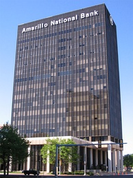 Amarillo National Bank Plaza One building in downtown Amarillo