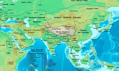 The Eastern and Western Turkic Khaganates (600 CE)