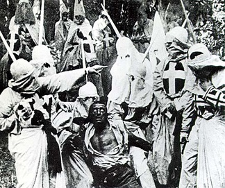 Scene from The Birth of a Nation (1915), the highest-grossing silent film in the United States.