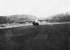 C-130 Hercules were used in the Battle of Kham Duc in 1968, when the North Vietnamese Army forced U.S.-led forces to abandon the Kham Duc Special Forces Camp.