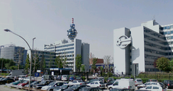Headquarters of Mediaset, Berlusconi's broadcasting company, in Cologno Monzese