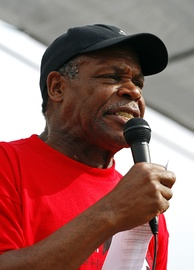 Glover speaks at a March for Immigrants Rights in Madison, Wisconsin, in 2007