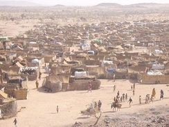 Darfur refugee camp in Chad, 2005