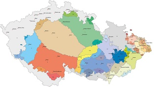 Dialects of Czech, Lach, and Cieszyn Silesian spoken in the Czech Republic. The border areas, where German was formerly spoken, are now mixed.