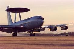 A Boeing E-3 Sentry Airborne Warning and Control System from Tinker AFB, Oklahoma