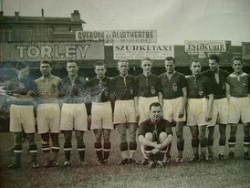 Hungary preparing for the 1938 FIFA World Cup