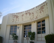 Frieze at Hoover School, designed by Bartholomew Mako