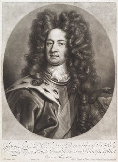 George in 1706, when he was Elector of Hanover. After Johann Leonhard Hirschmann.