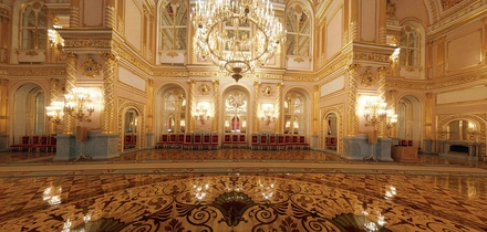 The Hall of the Order of St. Alexander Nevsky in the Grand Kremlin Palace