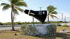 Replica of Friendship 7 at Grand Turk Airport