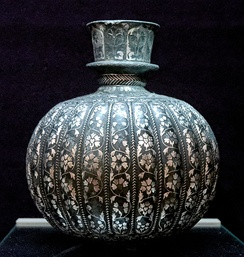 A Bidriware of the 18th century, displayed at Musée du Louvre