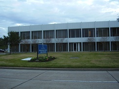 The Houston Airport System Administration Building is located on the airport grounds.