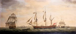 Royal George was one of the five East Indiamen the Spanish fleet captured in 1780