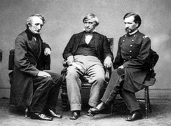 Joseph Holt (center) along with John Bingham (left) and Henry Burnett (right) were the three prosecutors in charge of the Lincoln assassination trial.