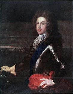 Coloured portrait of James as young man