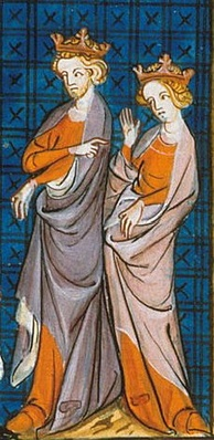 A medieval picture of Henry II and Eleanor of Aquitaine