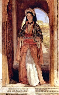 The Coffee Bearer, Orientalist painting by John Frederick Lewis (1857)