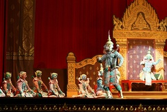 Khon show is the most stylised form of Thai performance.