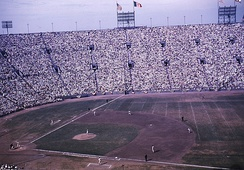 The 1959 World Series was played partially at the LA Coliseum while Dodger Stadium was being built.
