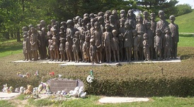 Memorial in the Czech Republic to children of Lidice murdered on Daluege's orders