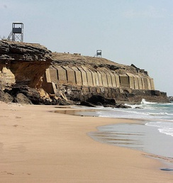 The Manora Fort, built in 1797 to defend Karachi, was captured by the British on 3 February 1839 and upgraded 1888–1889.