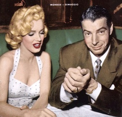 Monroe and DiMaggio when they were married in January 1954
