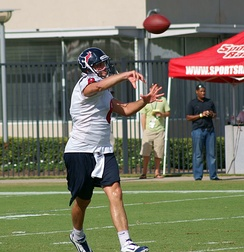 Schaub during Texans practice.