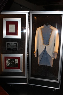 Jagger's military-style jacket worn during the 1989–1990 tour, on display at Hard Rock Cafe, Sydney, Australia