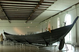 Iron Age oak boat discovered at Nydam Mose in Sønderborg, Denmark.