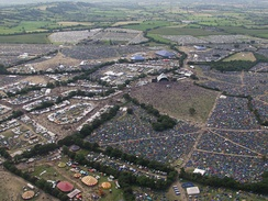 The festival site in 2002