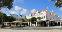 Ornate buildings in Oranjestad
