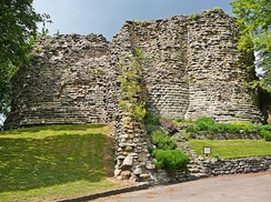 Pontefract Castle was slighted on the orders of Parliament.