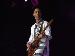 Prince at the Coachella Festival in 2008