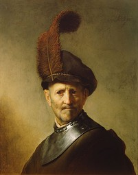Rembrandt, An Old Man in Military Costume, 1630
