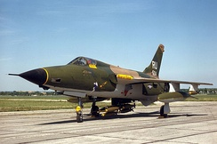 "A F-105D Thunderchief at the National Museum of the United States Air Force, the ""Memphis Belle II"""